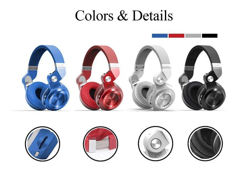 Bluedio T2 Plus colors