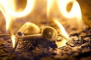 Burn-in headphones