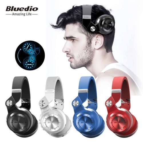 Bluedio T2+ bluetooth headphones SD card FM radio