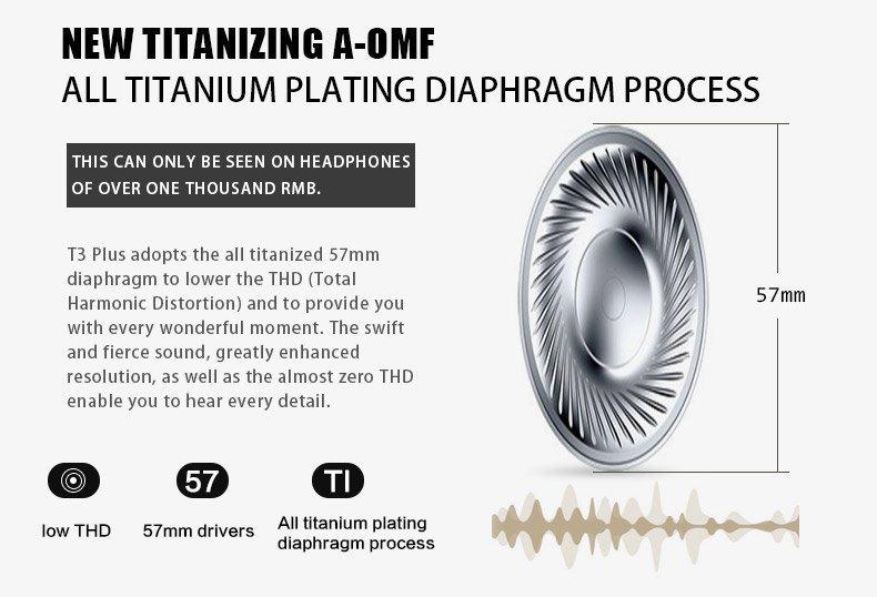 Bluedio T3 plus titanizing diaphragm driver