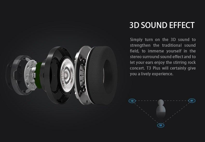 Bluedio T3 Plus 3D sound function