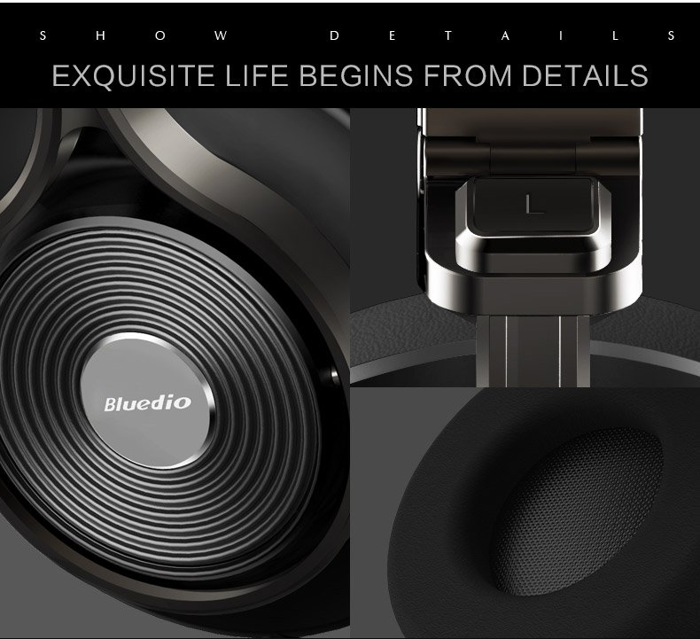 Bluedio T3 plus bluetooth headset details