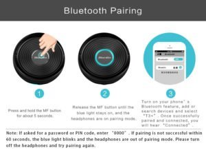 Bluedio T3 Plus bluetooth headphones how to pair