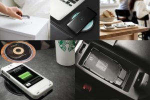 Wireless charger application scenarios in Starbucks, Ikea, Audi