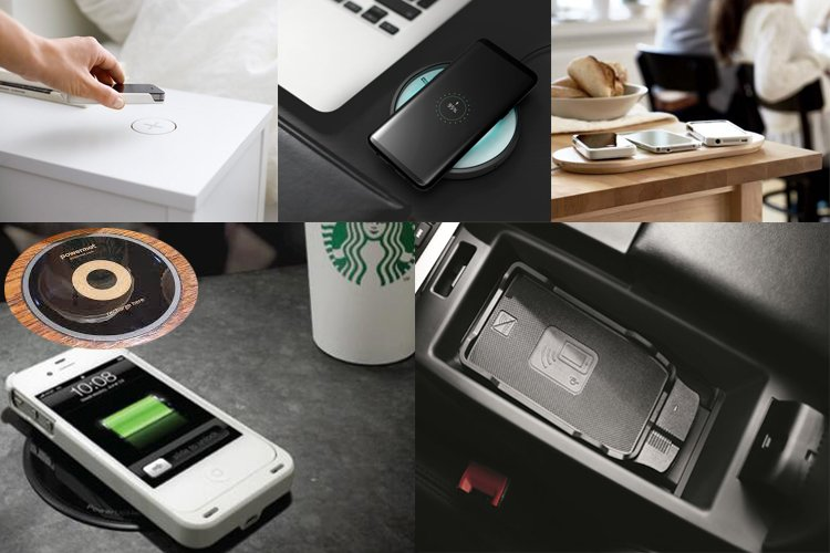 Wireless charger application scenarios in Starbucks, Ikea, Audi