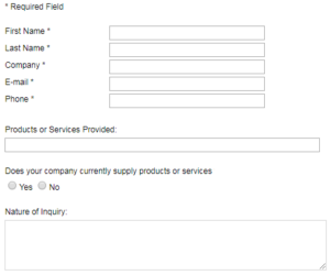 find China supplier by creating contact form