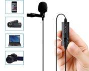 MAONO AU-100 Lavalier Condenser Microphone for Podcast