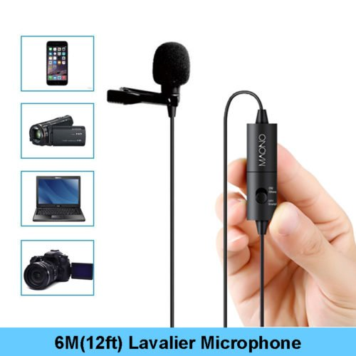 MAONO AU-100 Lavalier Condenser Microphone for Podcast