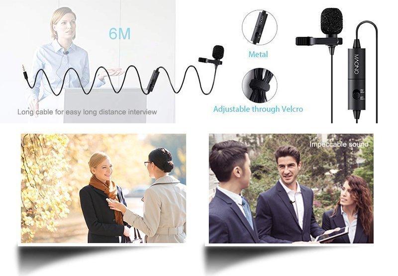 MAONO AU-100 Lavalier Condenser Microphone product details